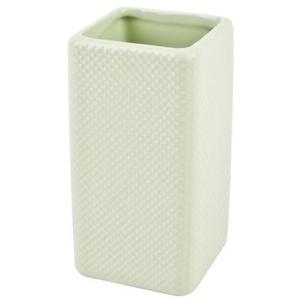 Pusteblume Vase Porzellan Dots Design mint 15 x 8 x 8 cm